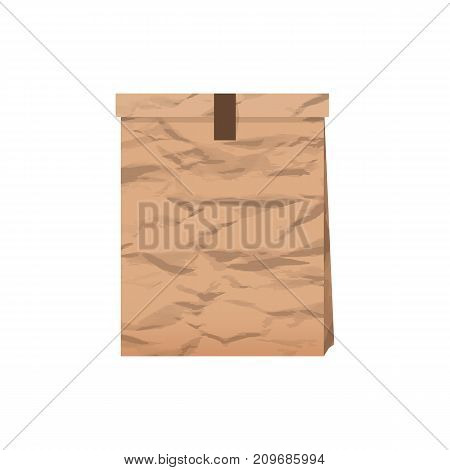 Package Paper With Shadow On A White Background