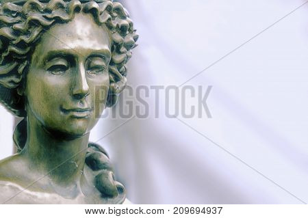 The goddess of love in Greek mythology Aphrodite (Venus in Roman mythology) Fragment of ancient statue.