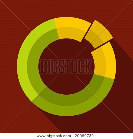 Circle chart icon. Flat illustration of circle chart vector icon for any web design
