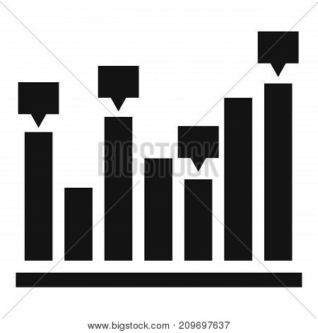 New chart icon. Simple illustration of new chart vector icon for any web design