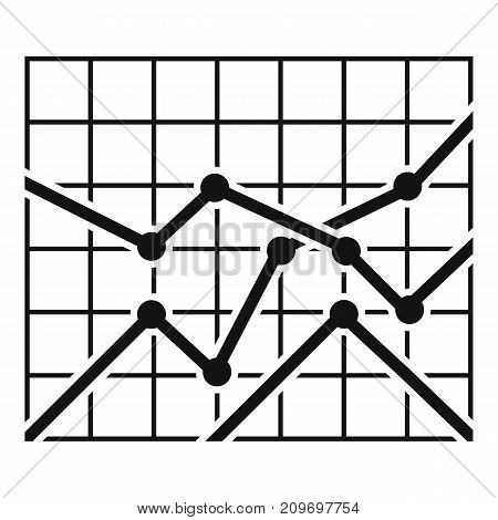 Best chart icon. Simple illustration of chart vector icon for any web design