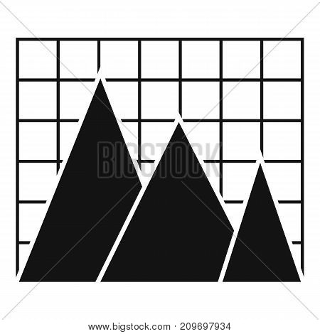 Business chart icon. Simple illustration of chart vector icon for any web design