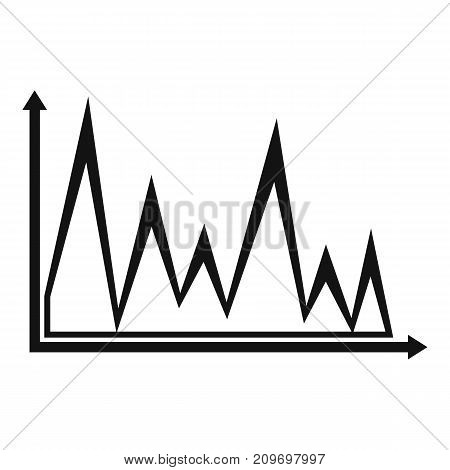 Finance graph icon. Simple illustration of graph vector icon for any web design