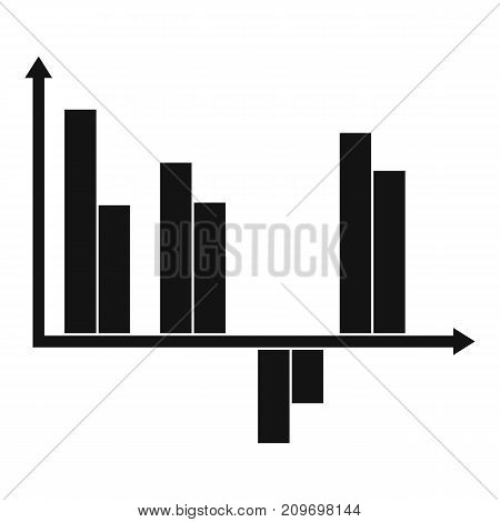 Business diagram icon. Simple illustration of diagram vector icon for any web design