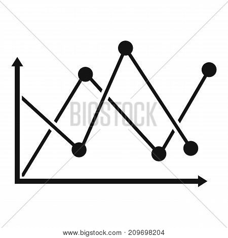 Line diagram icon. Simple illustration of diagram vector icon for any web design
