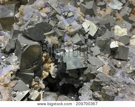 It's pyrite from natural.Mineral like gold and famous for industry . sometimes used for jewelry .