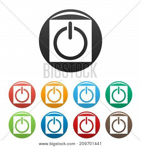 Power icons set. Simple illustration of power vector icons isolated on white background