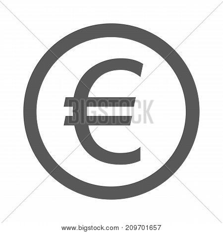 Euro symbol icon. Vector simple illustration of euro symbol icon isolated on white