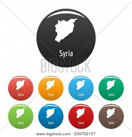 Syria map in black set. Simple illustration of Syria map vector isolated on white background