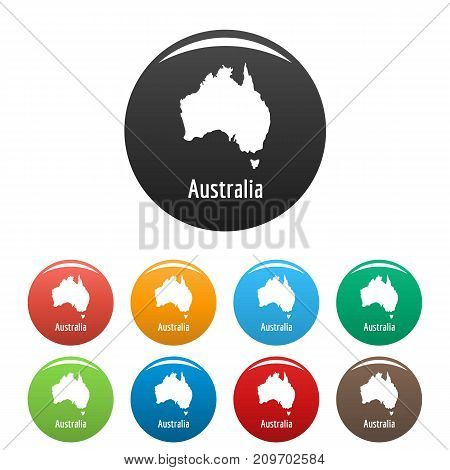 Australia map in black set. Simple illustration of Australia map vector isolated on white background