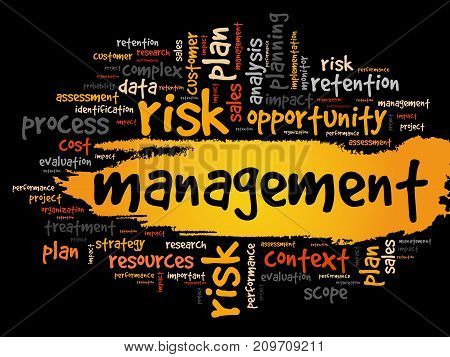 MANAGEMENT word cloud collage business concept background