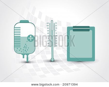 medical background with set of three medical object