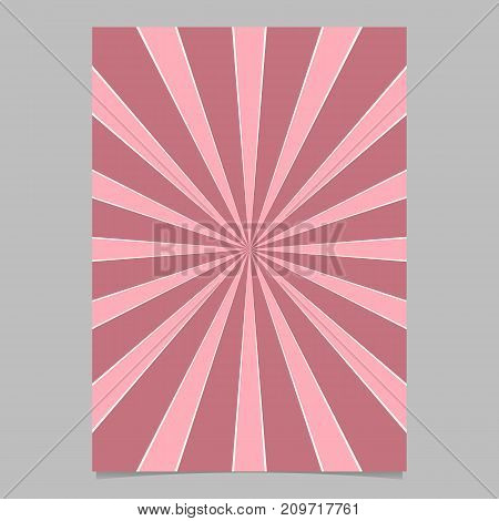 Pink abstract dynamic star burst card background template - vector brochure background design from radial stripes