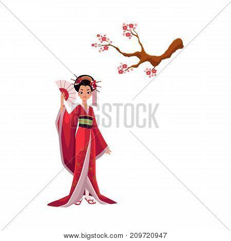 geisha kimono vector photo free trial bigstock