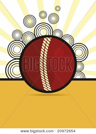 abstract background with isolated leather ball, vector illustration