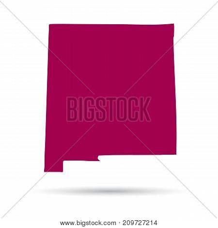 Map of the U.S. state of New Mexico on a white background