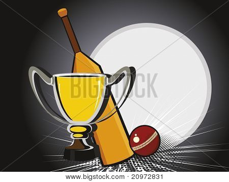 abstract texture background with bat, ball and trophy