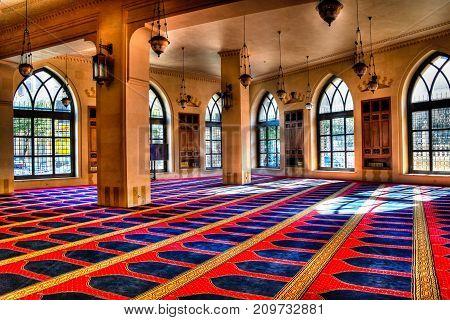 Interior view of Mohammad Al-Amin Mosque -05-05-2012 Beirut Lebanon