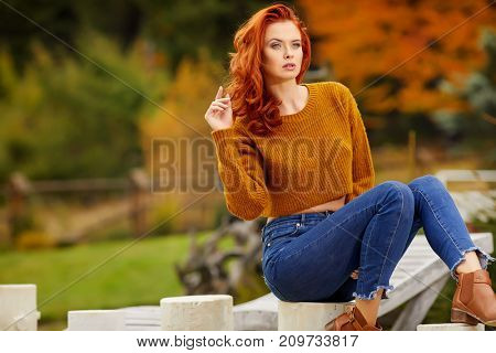 Autumn redhair girl
