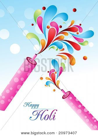abstract colorful concept background for holi celebration poster