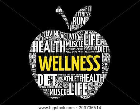 Wellness Apple Word Cloud Collage
