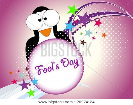 abstract colorful concept background with cute penguin