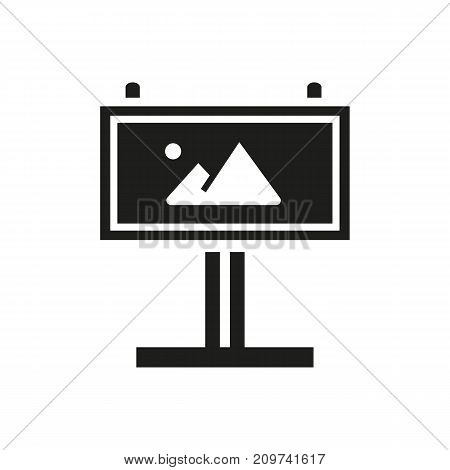 Simple icon of billboard. Broadside advertisement, outdoor ad, information board. Advertising concept. Can be used for topics like business, commerce, promotion