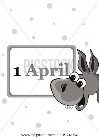 funny concept vector illustration for april fools day