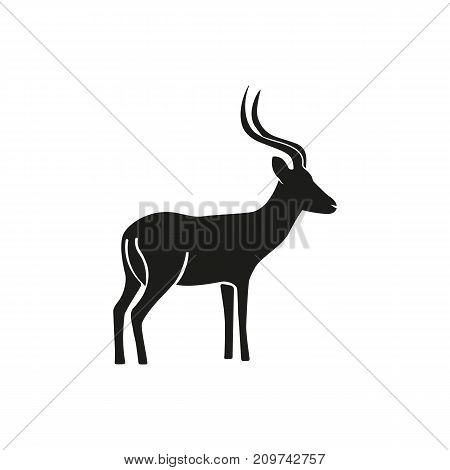 Simple icon of impala. African fauna, mammal, antelope. Animals concept. Can be used for topics like fauna, zoo, environment