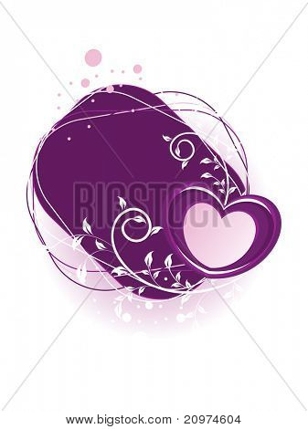 white background with isolated creative floral pattern heart
