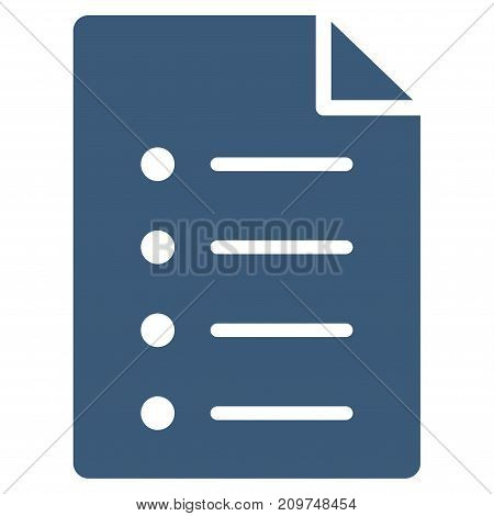 List Page vector icon. Flat blue symbol. Pictogram is isolated on a white background. Designed for web and software interfaces.