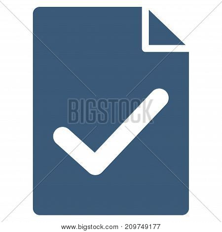 Valid Agreement Page vector icon. Flat blue symbol. Pictogram is isolated on a white background. Designed for web and software interfaces.