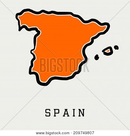 Spain Map Outline