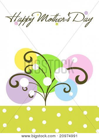 colorful creative artwork background card for mother day celebration