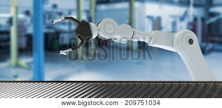 3D image of production line against interior of garage