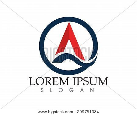 A Letter Logo Business Template Vector Icon