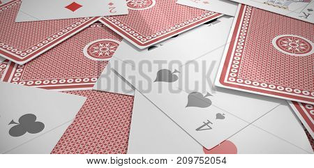 Full frame shot of 3D playing cards