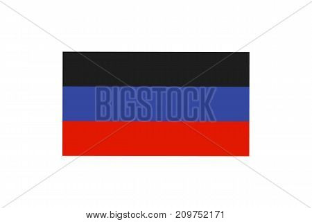 Vector illustration of the flag of self proclaimed Donetsk Peoples Republic on white background.