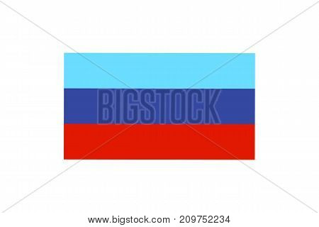 Vector illustration of the flag of self proclaimed Luhansk Peoples Republic on white background.