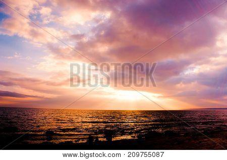 Idyllic View Bright Illumination