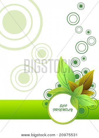 abstract green eco friendly background, vector illustration