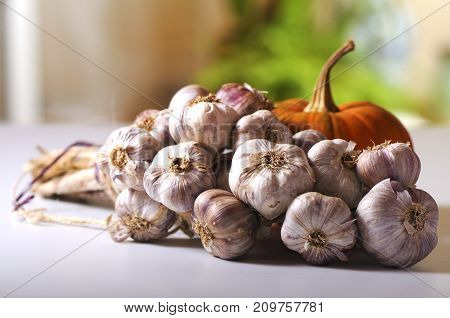 Vegetables With Still Life On Blurred Background