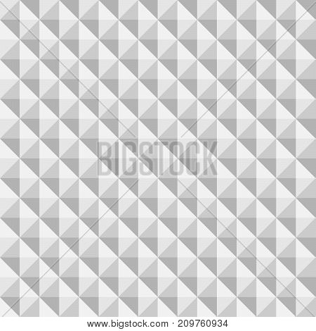 3D paper pyramids. Seamless vector pattern background.