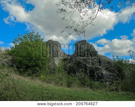 Unique stone towers with a heavenly eye in the mountain of Vratza Balkan