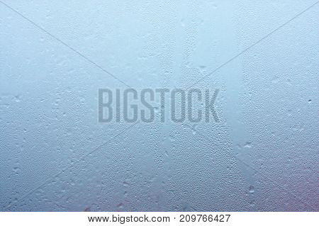 Excessive Moisture In The Room. Condensate On Glass With Water Drops
