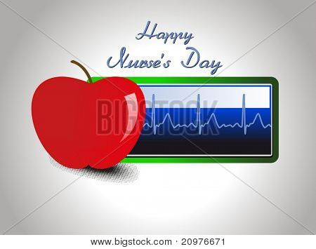abstract medical concept background for happy nurse's day celebration