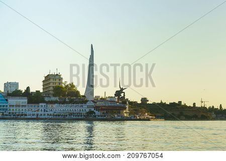 Obelisk In Honor Of The Hero City Of Sevastopol And The Monument To The Sailors And Soldiers On The