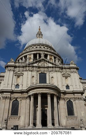 An external view of a Cathedral in London