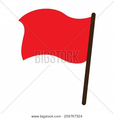 Red flag vector object icon illustration eps10