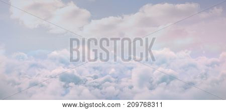 Idyllic view of white cloudscape against blue sky